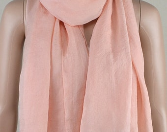 Meat pink chiffon scarves, the four seasons of spring, summer, autumn and winter scarves, shawls, thin elegant, clothing accessories