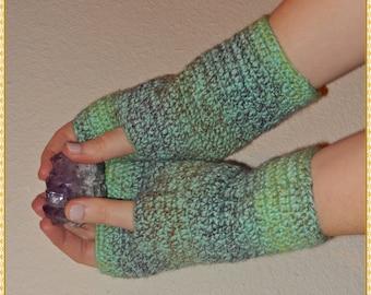 Spring Meadow - fingerless gloves
