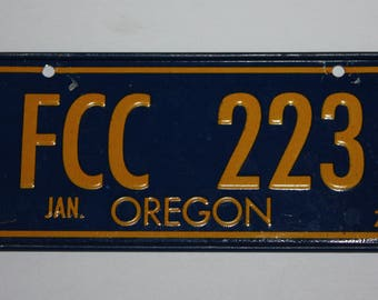 1978 Oregon Wheaties Post Cereal Premium Bike Mini Metal License Plate