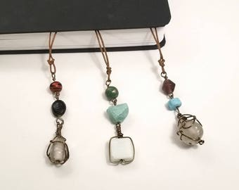 Wire Wrapped Beaded Bookmark /  Reading Gift for Her / Librarian Gift / Book Lover Gift /  Literary Gift / Teacher Gift / Book Accessories