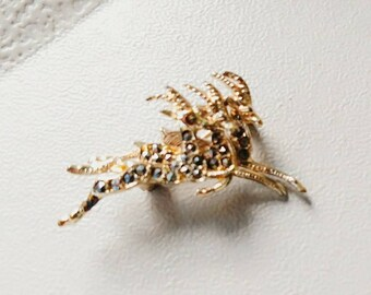 Mid century, jumping deer brooch.  Marcasite stones.  Herd of 3 with antlers.  Great Christmas gift.  Vintage leaping gazelle pin.