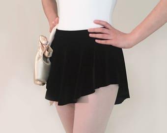 Velvet Ballet skirt- BLACK - SAB Skirt- Royall Dancewear- Pull on- Dance Costume- Figure skating- Adult Ballet