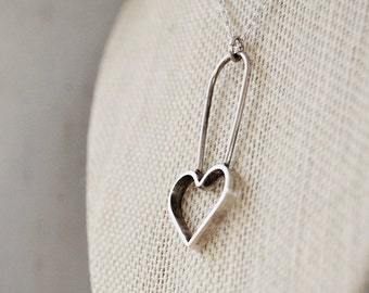 Heart Pendant - Sterling Silver - Metalwork Necklace - Ethical Silver - Custom Made - Metalwork - Mothers Day