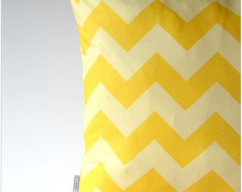 Decorative Pillow Cover Pillow cushion cover pillow case cushion case chevron zig-zag yellow-white 16x16/  20x20 inch