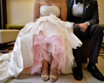 Hand Dyed Plus Size Crinoline - Pink Tulle Skirt - Aline Crinoline, Extra Full Crinoline, Mermaid Crinoline