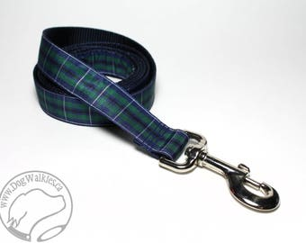 Modern Douglas Tartan Leash // Matching Tartan Dog Leash in all widths // custom lengths // Plaid Leashes // Handmade