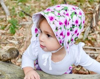 Bunny Bonnet with Brim; Baby Bonnet