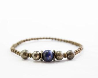 Blue Sky Bracelet, Men Bracelet, Boho Bracelet, Men Jewelry