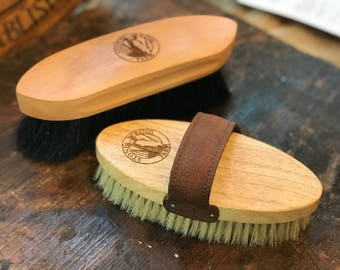 Personalized Equestrian Horse Brush Set (two brushes), Equestrian Gift Set, Horse Lover Gifts