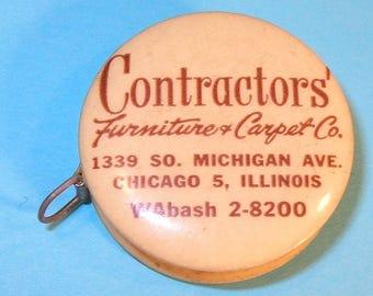 Vintage Celluloid Advertising Tape Measure: Furniture & Carpet Co. Chicago