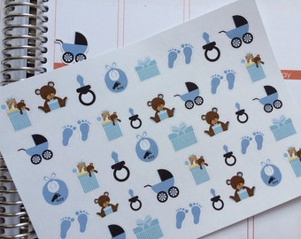 Planner Stickers, Baby Boy Stickers Fits Erin Condren Life Planner & Other Planners Cute Planner Stickers