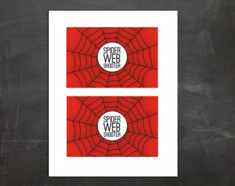 Spider Web Shooter Silly String Label PDF