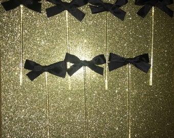 Acryl traktatie Sticks met satijnen strikken