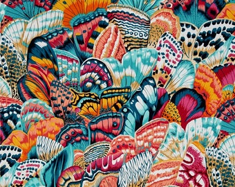 Butterfly Wings Tropical Color  ~ Natural World Collection ~ Snow Leopard Designs, Cotton Quilt Fabric