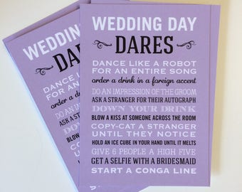 Wedding Dares Cards (pack of 4)