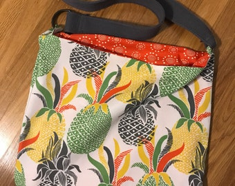 Pineapple Express tote  handcrafted, One of a Kind