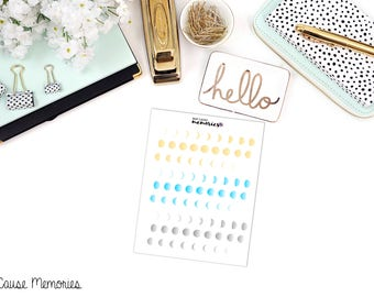 MOON PHASES Paper Planner Stickers