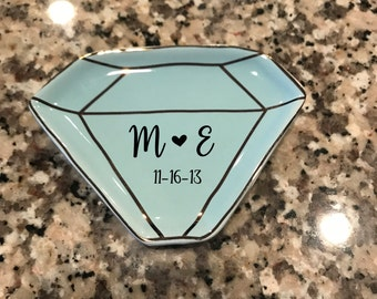 Custom Ring Dish, Wedding gift, Jewelry Holder
