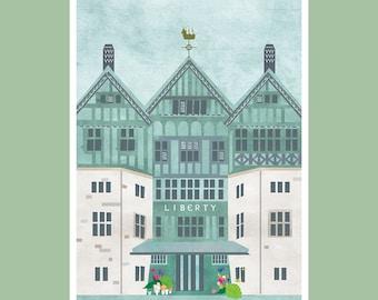 A6 Liberty London Print   Wall Art / Postcard
