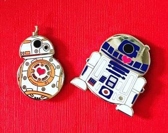 BB-8 and R2D2 Star Wars The Last Jedi pin set