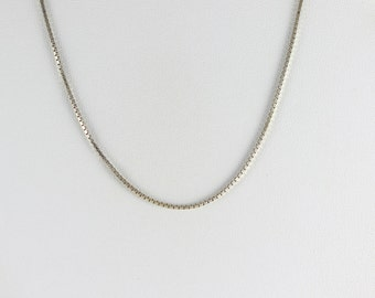 Mens Sterling Silver Box Chain Necklace 30 1/2 inch chain