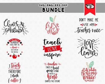teacher svg bundle, teacher svg, school clipart, teacher appreciation gifts, svg dxf, eps, png, iron on cricut downloads, commercial use
