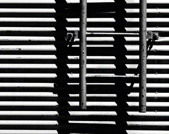 Black and White Photograph, Contemporary Art,  Black and White Print, Abstract Photograph, Optical Illusion, Ladder, Northwest U.S.A.