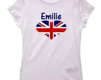 T-shirt London girl personalized with name