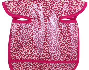 Hot Pink Cheetah Apron Bib