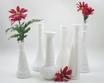 Milk Glass Vase Collection