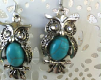 Imitation Pearl Earrings turquoise