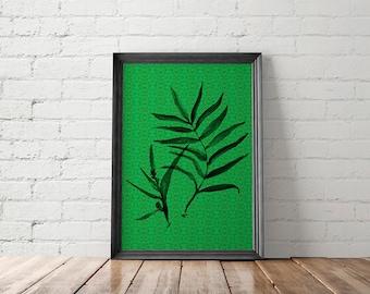 Tropical Leaf Art Prints, Tropical Leaf Printable, Tropical Leaf Wall Art, Tropical Leaf Poster, Bohemian Art Prints, Bohemian Printable