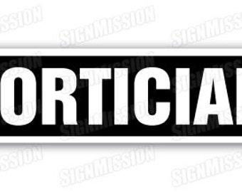 MORTICIAN Street Sign undertaker funeral director parlor death