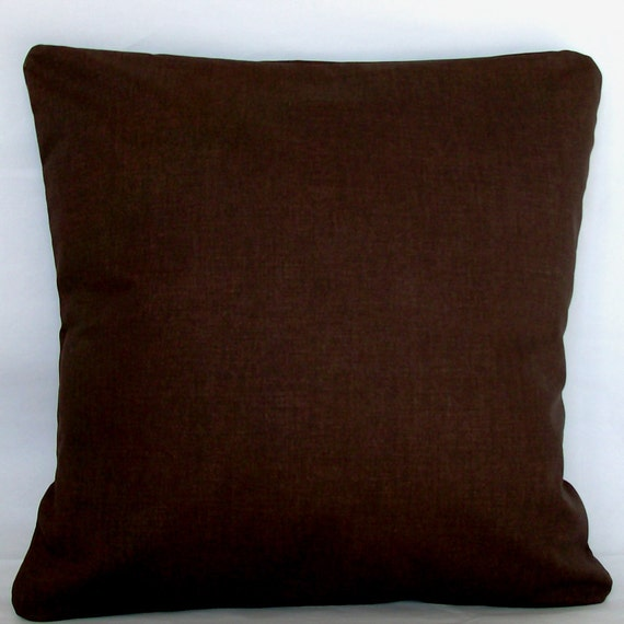 solid brown pillow cover 18x18 or 20x20 inch decorative. Black Bedroom Furniture Sets. Home Design Ideas