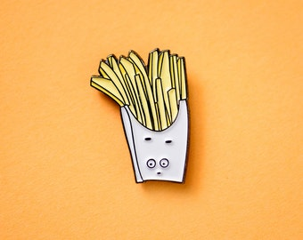 NOW AVAILABLE** French Fry Enamel / Lapel Pin