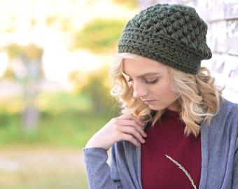Gift for Her / Chunky Crochet Hat  / Winter Hat for Women / Birthday Gift / Women's Beanie Hat / Slightly Slouchy Hat for Women