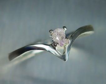 Natural Argyle pink diamond 9ct 14k 18k 375 585 750 white yellow rose gold Platinum Palladium engagement ring all sizes