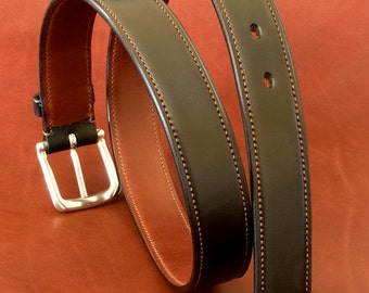 Hand made and stitched leather Belt (32 mm)