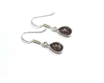 Faceted Smokey  Quartz   Earrings , Gift For Her