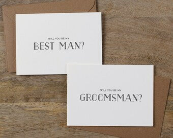 7 x Will You Be My Best Man, Will You Be My Groomsman, Best Man Card, Groomsman Card, Groomsman Wedding Card, Wedding Cards, K5