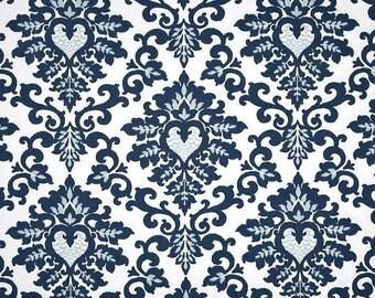 Cecilia Premier Navy Blue White - 1 Yard - Home Decor  - Premier Prints Duck Cloth