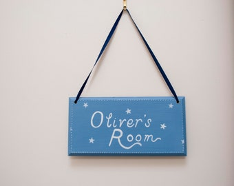 Personalised Boy's Name Door Sign