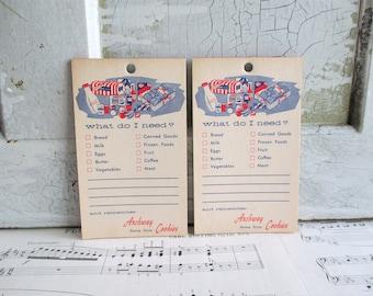 Pair of Vintage Archway Cookies Grocery List Note Pads