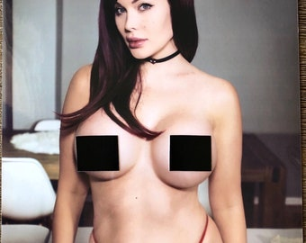 Mary Jane Cosplay 8 x 10 Signed Topless Print