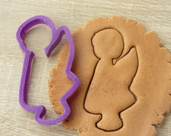 Angel girl cookie cutter