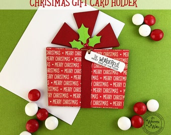 KIT Christmas Gift Card Holder, Most Wonderful Time of the year, Stocking Stuffers, Christmas Gift Cards for Employees, Teen Gift Ideas