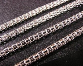 5 feet mealie chain in bright silver color-1015B
