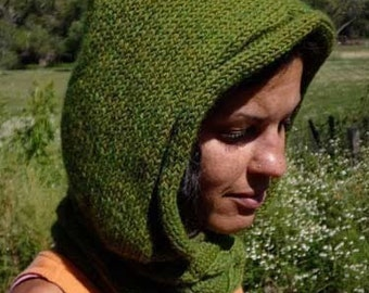 Morning Glory Hood/Cowl - knitting pattern - PDF file - not a finished item