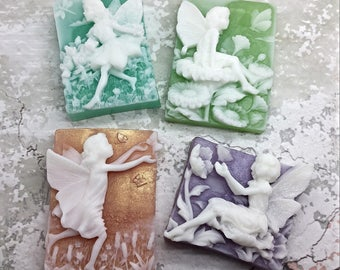 Flower Fairy Gift Set, Shaped Soap , Gift Set , Coworker Gift , Mother's Day Gift , Gift for Her, Girlfriend Gift, Mother's Day Gift