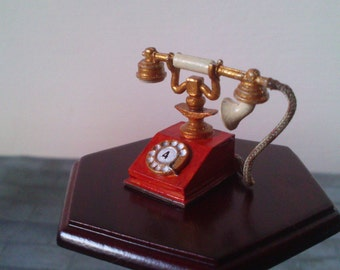 12th Scale dolls house  1920's telephone
